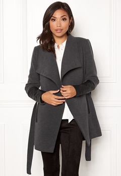 VERO MODA Cala 3/4 Jacket Dark Grey Melange Bubbleroom.fi
