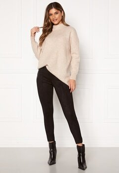 VERO MODA Cava Faux Suede Leggings Black Bubbleroom.fi