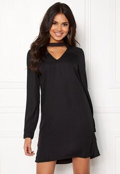 VERO MODA Chiara LS Choker Dress Black Bubbleroom.fi