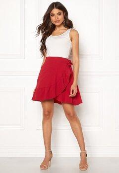 VERO MODA Cita Bobble Wrap Skirt Chinese Red Bubbleroom.fi