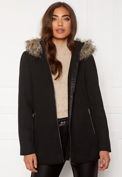 VERO MODA Collar York Wool Jacket Black Bubbleroom.fi