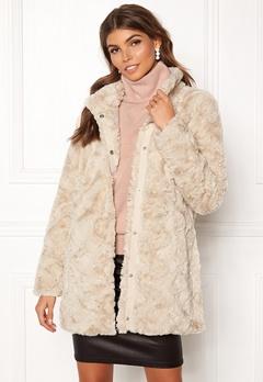 VERO MODA Curl Faux Fur Jacket Oatmeal Bubbleroom.fi
