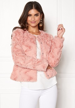 VERO MODA Curl Short Fake Fur Jacket Rose Cloud Bubbleroom.fi