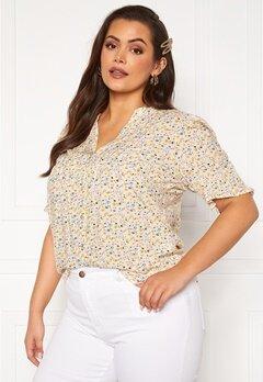 Vero Moda Curve Cila SS Shirt Birch Bubbleroom.fi