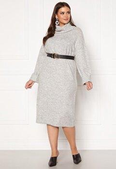Vero Moda Curve Gaiva Cowl Neck Dress Light Grey Melange Bubbleroom.fi