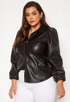 Vero Moda Curve Lio LS Shirt Black Bubbleroom.fi