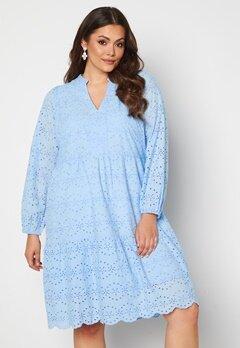 Vero Moda Curve Nice LS Below Knee Dress Placid Blue Bubbleroom.fi
