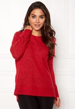 VERO MODA Cute LS Oversize Knit Chinese Red Bubbleroom.fi