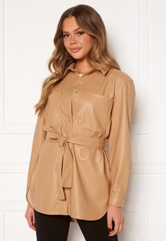 VERO MODA Debbie Coated Jacket Tan Bubbleroom.fi