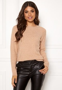 VERO MODA Doffy LS O-Neck Blouse Tabacco Brown Bubbleroom.fi