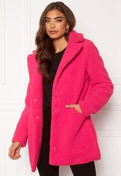 VERO MODA Donna Teddy Jacket Pink Peacock Bubbleroom.fi