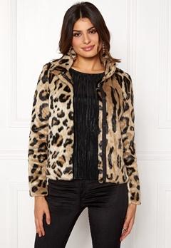 VERO MODA EA Leopard Short Faux Fur Silver Mink Bubbleroom.fi