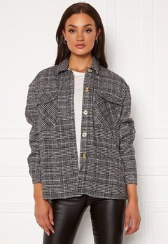 VERO MODA Elin Oversized Shirt Black Checks White Bubbleroom.fi