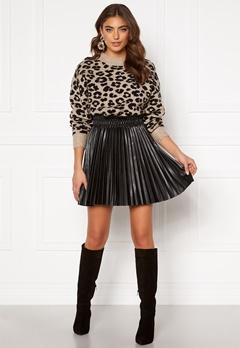 VERO MODA Elvira Coated Skirt Black Metallic Bubbleroom.fi