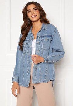 VERO MODA Emery Ls Oversize Denim Shirt Light Blue Denim<br>  bubbleroom.fi