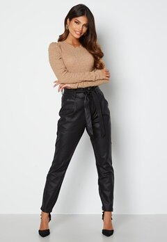 VERO MODA Eva Loose Coated Pants Black bubbleroom.fi
