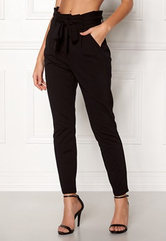VERO MODA Eva Loose Paperbag Pants Black Bubbleroom.fi
