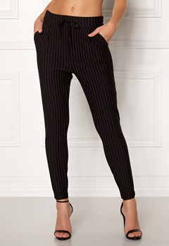VERO MODA Eva MR Loose Pinstripe Pants Black Bubbleroom.fi