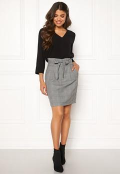 VERO MODA Eva Paperbag Short Skirt Grey Bubbleroom.fi