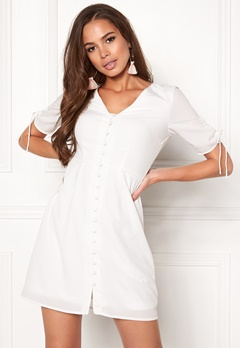 VERO MODA Eve 2/4 Short Dress Snow White Bubbleroom.fi