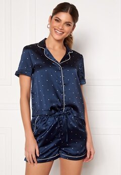 VERO MODA Fanni S/S Nightwear Set Navy Blazer Bubbleroom.fi
