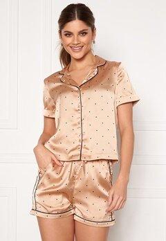 VERO MODA Fanni S/S Nightwear Set Nougat Bubbleroom.fi