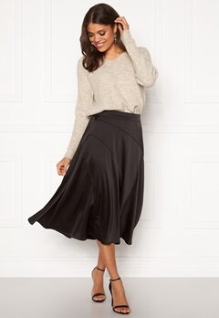 VERO MODA Gabbi Calf Skirt Black Bubbleroom.fi