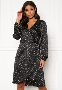 VERO MODA Gamma l/s Wrap Dress Black Bubbleroom.fi
