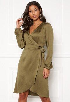 VERO MODA Gamma l/s Wrap Dress Military Olive Bubbleroom.fi