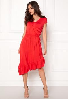 VERO MODA Gloria Capsleeve Dress Poppy Red Bubbleroom.fi