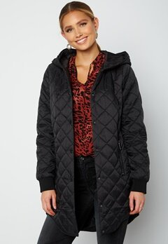 VERO MODA Hayle Hood 3/4 Jacket Black bubbleroom.fi