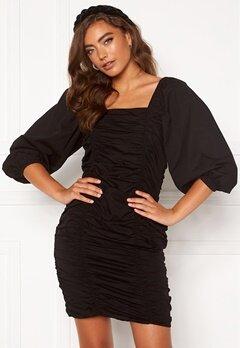 VERO MODA Henny 3/4 Rouching Dress Black Bubbleroom.fi