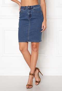 VERO MODA Hot Nine Pencil Skirt Medium Blue Denim Bubbleroom.fi