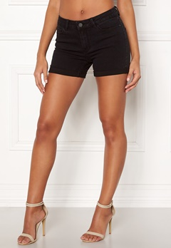 VERO MODA Hot Seven Fold Shorts Black Bubbleroom.fi