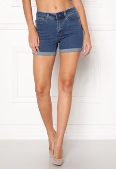 VERO MODA Hot Seven Fold Shorts Medium Blue Denim Bubbleroom.fi