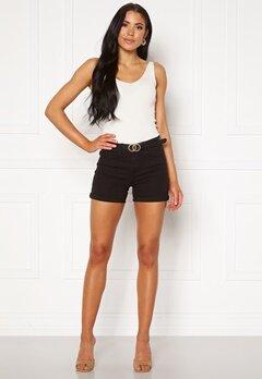 VERO MODA Hot Seven NW Dnm Fold Shorts Mix Black Bubbleroom.fi