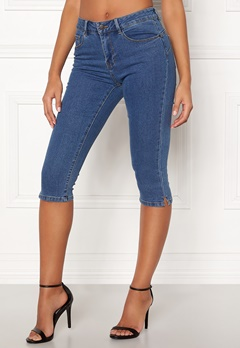 VERO MODA Hot Seven Slit Knickers Medium Blue Denim Bubbleroom.fi