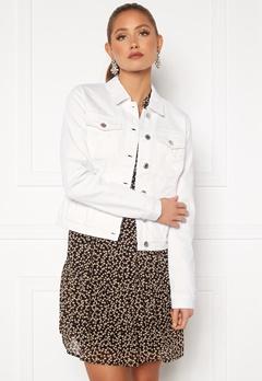 VERO MODA Hot Soya LS Denim Jacket Bright White Bubbleroom.fi