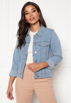 VERO MODA Hot Soya LS Denim Jacket Light Blue Denim Bubbleroom.fi