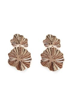VERO MODA Isla Big Earrings Gold Bubbleroom.fi