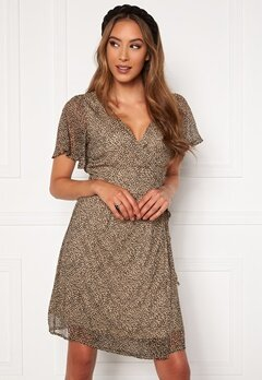 VERO MODA Kay SS Wrap Short Dress Nomad Bubbleroom.fi