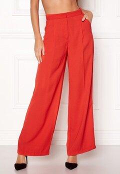 VERO MODA Lanjuli HW Wide Pants Poppy Red Bubbleroom.fi