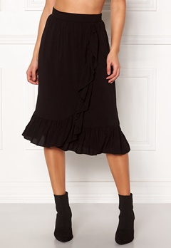 VERO MODA Leo N/W Wrap Skirt Black Bubbleroom.fi