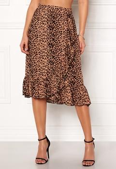 VERO MODA Leo N/W Wrap Skirt Snow White / Leopard Bubbleroom.fi