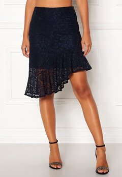 VERO MODA Lizz HW BLK Skirt Night Sky Bubbleroom.fi