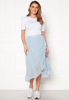 VERO MODA Loula H/W Wrap Skirt Placid Blue Bubbleroom.fi
