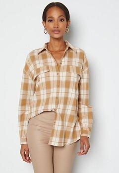VERO MODA Luna LS Shirt Tobacco Brown Checks bubbleroom.fi