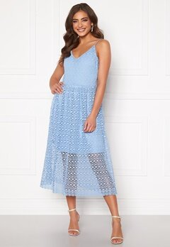 VERO MODA Madeleine Calf Lace Dress Placid Blue Bubbleroom.fi