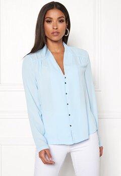 VERO MODA Manja LS V-Neck Shirt Cool Blue Bubbleroom.fi