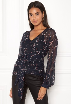 VERO MODA Maya 3/4 Wrap Top Night Sky Bubbleroom.fi